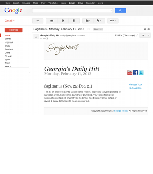 Georgia's Daily Hit! Daily via text message