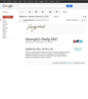 Georgia's Daily Hit! Daily via text message